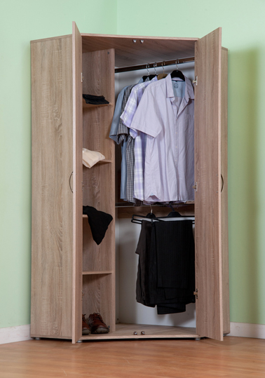 Chester Standard Corner Wardrobe With Sonoma Light Oak